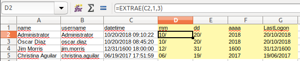 Ajuste en Calc (Excel)